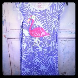 Cat and Jack girls purple nightgown with flamingo